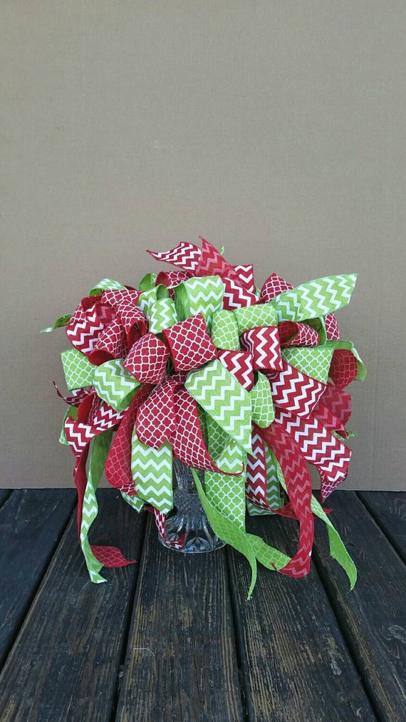Christmas Tree Topper, Burlap Tree Topper, Faux Burlap Tree Topper