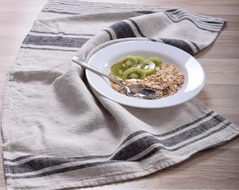 Stonewashed linen tea towel. Linen hand towel. Soft linen. Natural kitchen towel. Linen towel. Dish towel.