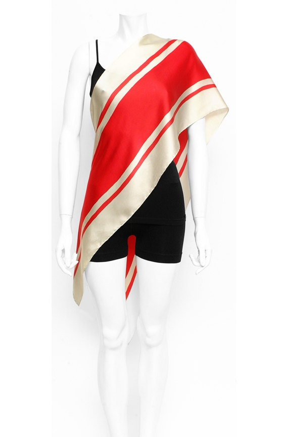 Racing striped silk scarf cool motorcycle and car mens neck scarf