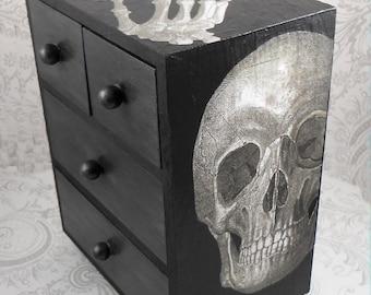 Skull and Lace Anatomy Stash Jewelry Box