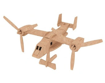 The Osprey Helicopter 3D wooden puzzle/model
