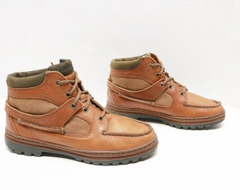 TIMBERLAND Brown lace up ankle boots size 8.5 M