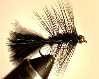 Bead Head Woolly Bugger - Wet/Streamer Fly - Multiple Sizes - Black, Olive, Rust, White - Fly Fishing Fly - Trout Fly