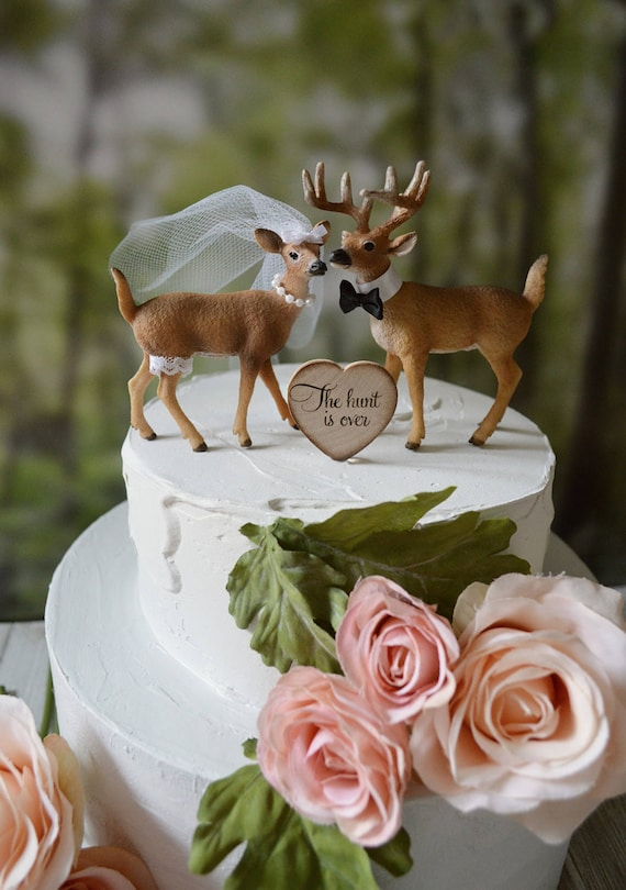 Duck Hunting Wedding Cake Toppers