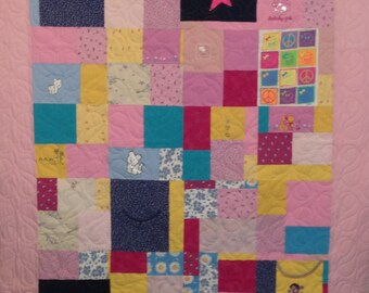 Baby Memory Quilt, Free shipping - DEPOSIT ONLY