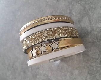 Golden Star Cuff Bracelet