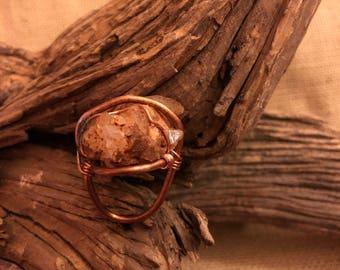 Raw Arkansas Quartz Ring