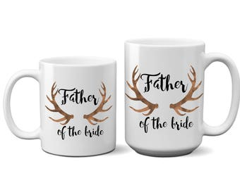 Father of the, Bride, Groom, Coffee, Mug, Gift for, Dad, Him, Thank you, Deer ,I Love You, Unique, Best Friend, Ceramic, Large, 15oz, 11oz