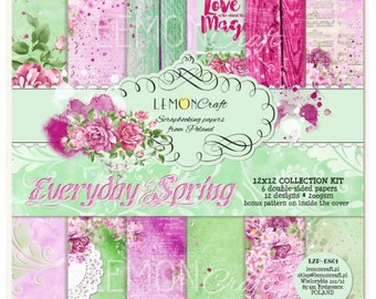 Lemoncraft Everyday Spring 12x12 Scrapbook Papers