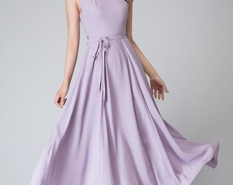 Purple dress, chiffon dress, maxi dress, party dress, women dresses, long dress, sleeveless dress, evening dress, summer dress 1527