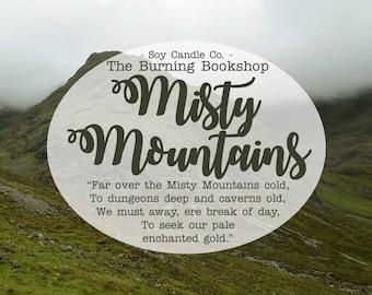 Monts Brumeux | Le Hobbit inspiré bougie de soja livresques