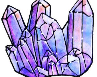 """Crystal Cluster Acrylic Charm 1.5"""""""