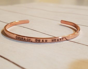 """The TEENSY Hand Stamped Cuff Bracelet 1/8"""""""