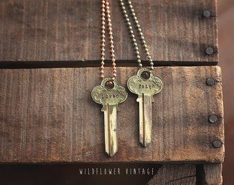 Key Necklace | Ornate Vintage Repurposed