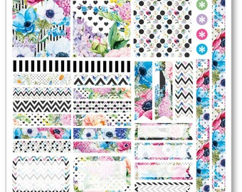 Bouquet Decorating Kit / Weekly Spread Planner Stickers for Erin Condren Planner, Filofax, Plum Paper