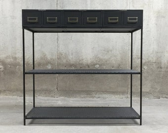 Industrial Entry Table   Console Table   Metal Table   Loft Furniture    Side Table