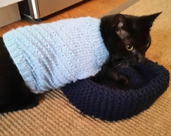 Pet Sweater, Hand Knit Pet Sweater, Cat Sweater, Dog Sweater, Pet Jacket, Pet Clothing, Cat Clothing, Dog Clothing, Pet Gift