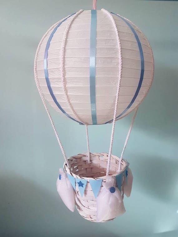 Hot air balloon light shade hanging decoration nursery like this item aloadofball Images
