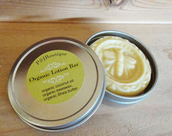 Pure Organic Lotion Bar, Solid Lotion Bar, Travel Size Lotion, Bridal Shower Favors, Unscented Lotion, Honey Lavender Lotion Bar