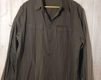 Vintage Ducks Unlimited Canada, a khaki checkered shirt, size large shirt
