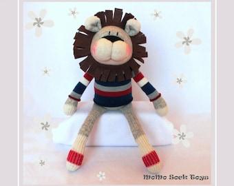 Handmade Lion Sock Plush Toy