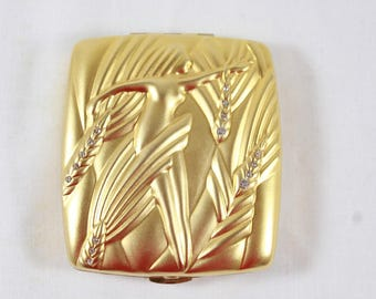 Estee Lauder Virgo Zodiac Compact August September Gold Compact Rhinestones Collectible Compact C130