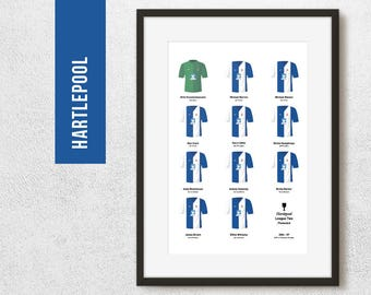 HARTLEPOOL 2007 League 2 Promotion Print, Football Poster, Football Gift, FREE UK Delivery