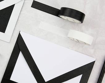 Blanc et Noir - Japanese Washi Masking Tape Set - 6 rolls - 7.6 Yard (No discount)