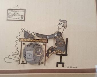 Watch art by Girard featuring accountant