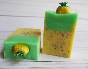 Pineapple Express Soap- Valentines Day Soap-  Lemons Citrus Scent- Pineapple Gifts- Vegan and Palm Free Soap- Hemp Soap