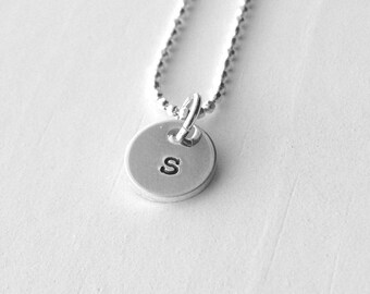 Initial Necklace, Letter s Pendant, Personalized Necklace, Letter s Necklace, Initial Pendant, Sterling Silver Jewelry, All Letters Avail.,s