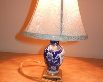 Lamps,Blue Lamp,Porcelain Lamp,Bell Shade