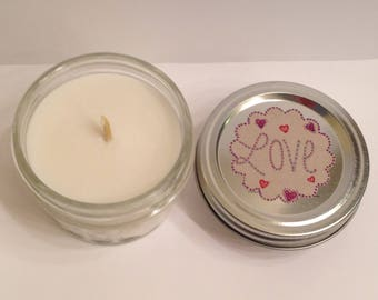 Love Scented Soy Candle. Valentines Day Candle. Bee Mine. Pomegranate Pear Candle. Gift for wife. Gift for girlfriend. February 14 2018