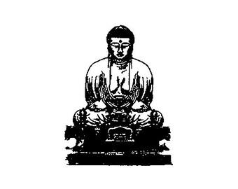 Buddha  Rubber Stamp