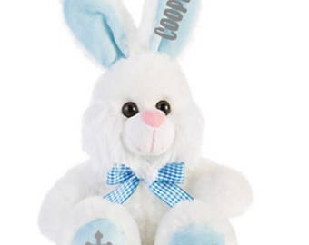 Easter bunny - custom easter bunny - personalized bunny - easter basket filler - easter for girls - easter for boys - easter plush