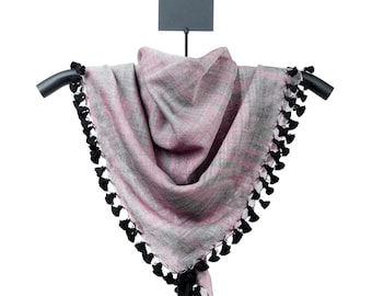 Space-Dye Scarf with Tassel Fringe