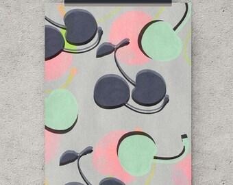 Cherry print, modern wall art, digital downloadable art,  modern print, wall art download, wall decor, wall art print, art print, cherry art