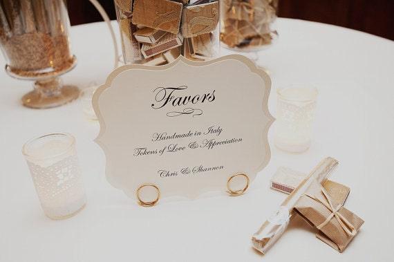Wording For Wedding Gifts: Wedding Sign Large Romantic Vintage Label Design Elegant