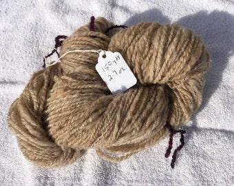 Handspun yarn / natural color yarn / undyed yarn / brown yarn / moorit yarn / yarn for knitting / yarn for crocheting / yarn for crafting