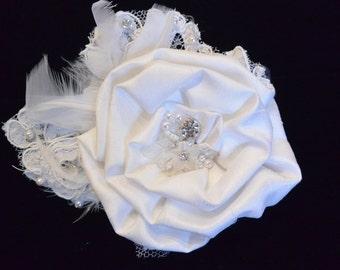 Silk Fabric Rose Hair Flower