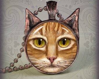 OTB4 Orange Ginger Tabby pendant