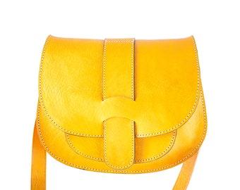 Handmade leather crossbody bag for women | leather handbag handmade | genuine leather shoulder bag | medium vintage leather purse woman