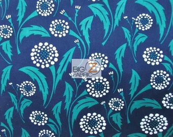"""Bryant Park Floral Dandelion By Wilmington Prints 100% Cotton Fabric 60"""" Wide By The Yard (FH-1759)"""