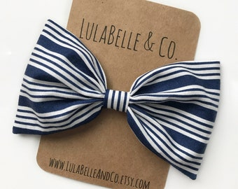 Liberty in Blue LulaBelle Bow // American Flag // America // Fourth of July // Red White and Blue // Patriotic // Stripes // Striped