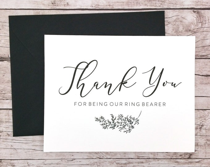 Thank You For Being Our Ring Bearer Card (FPS0062)