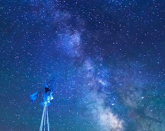 Milky way print//North Dakota art//North Dakota photography//Milky way photography