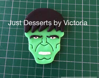 Hulk face cake topper