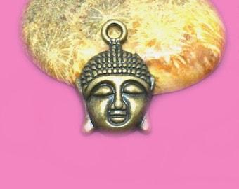 30 22x15mm bronze Buddha charms