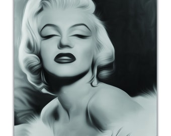 Marilyn Monroe Oil Painting Giclee Print on Canvas