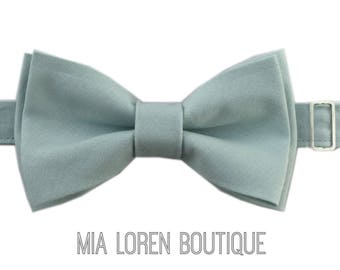 Blue Grey Bow Tie, Dusty Blue Bow Tie, Adult & Child Bow Ties, Made in the USA, Use code TENOFF5 at checkout for 10% off 5 or more!
